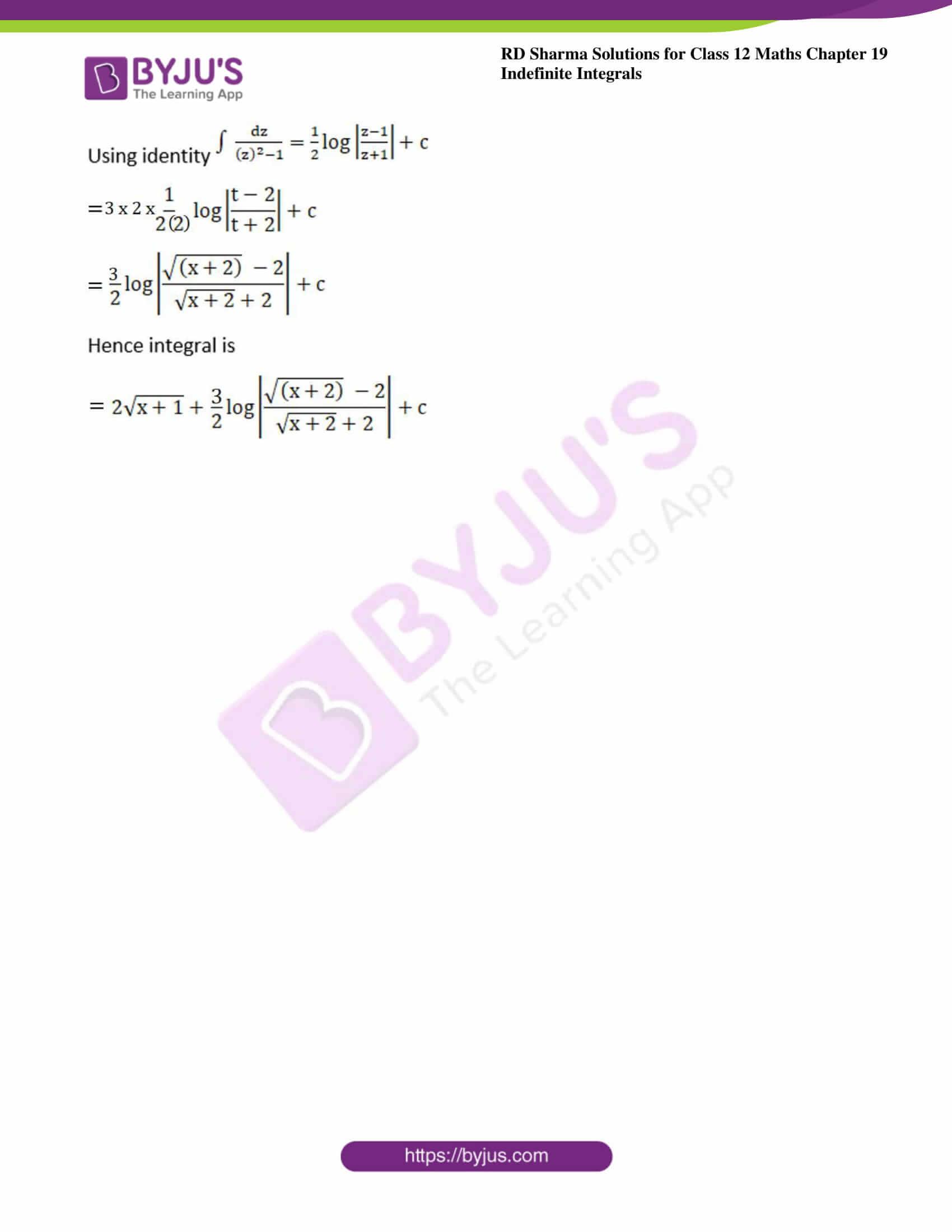 rd sharma class 12 maths solutions chapter 19 ex 32 5