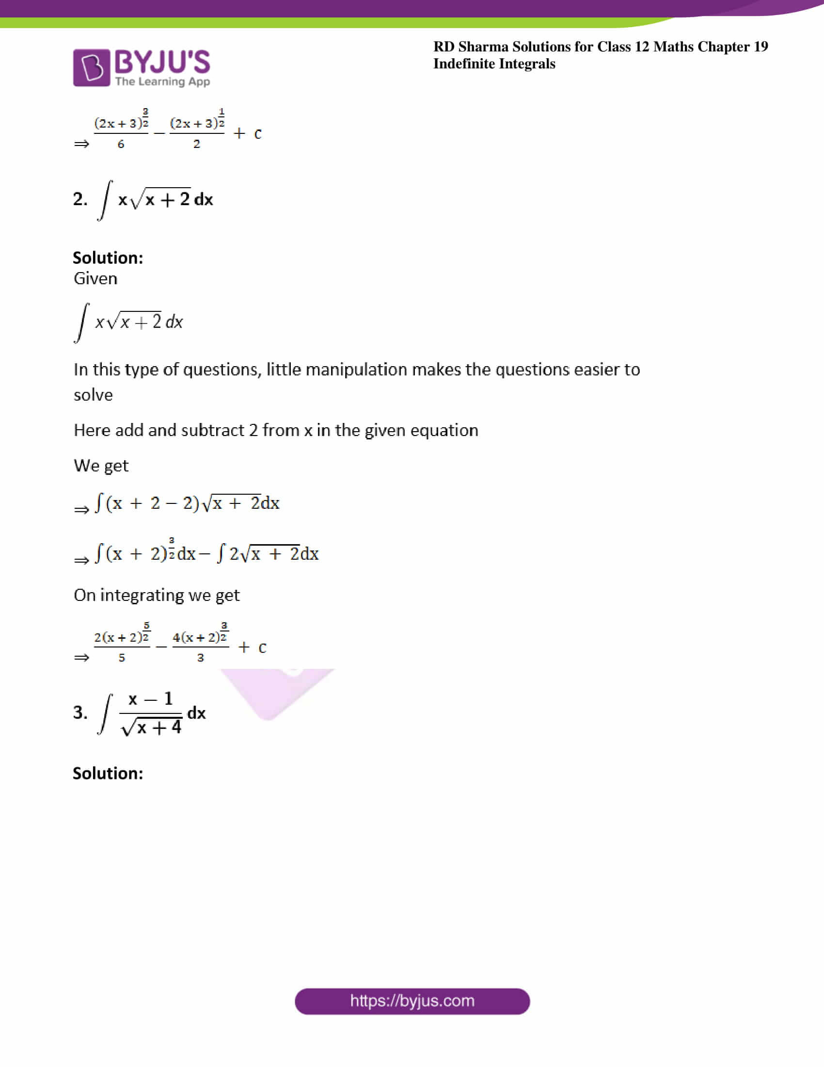 rd sharma class 12 maths solutions chapter 19 ex 5 2