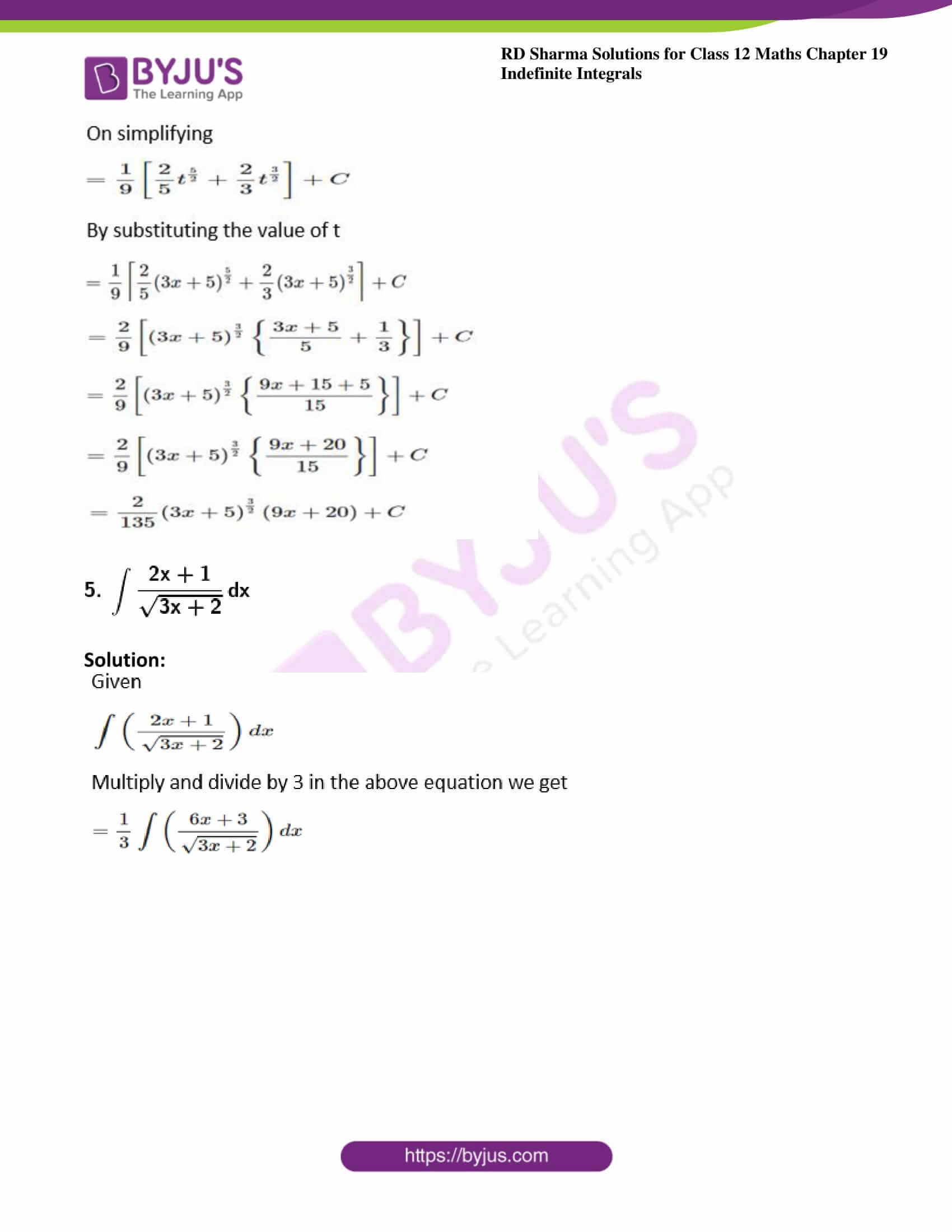 rd sharma class 12 maths solutions chapter 19 ex 5 5