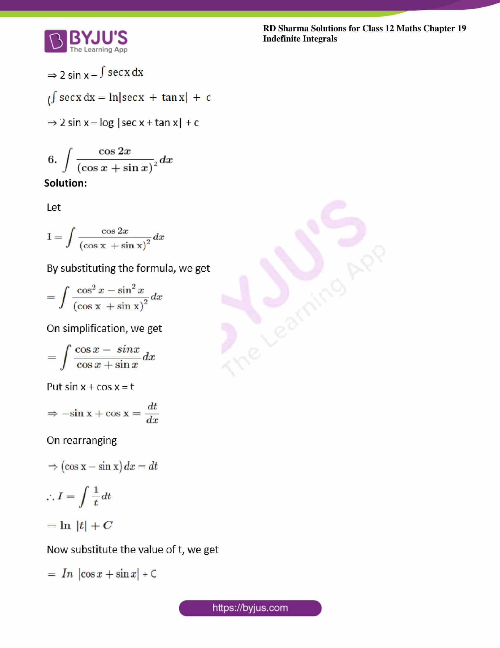 rd sharma class 12 maths solutions chapter 19 ex 8 4