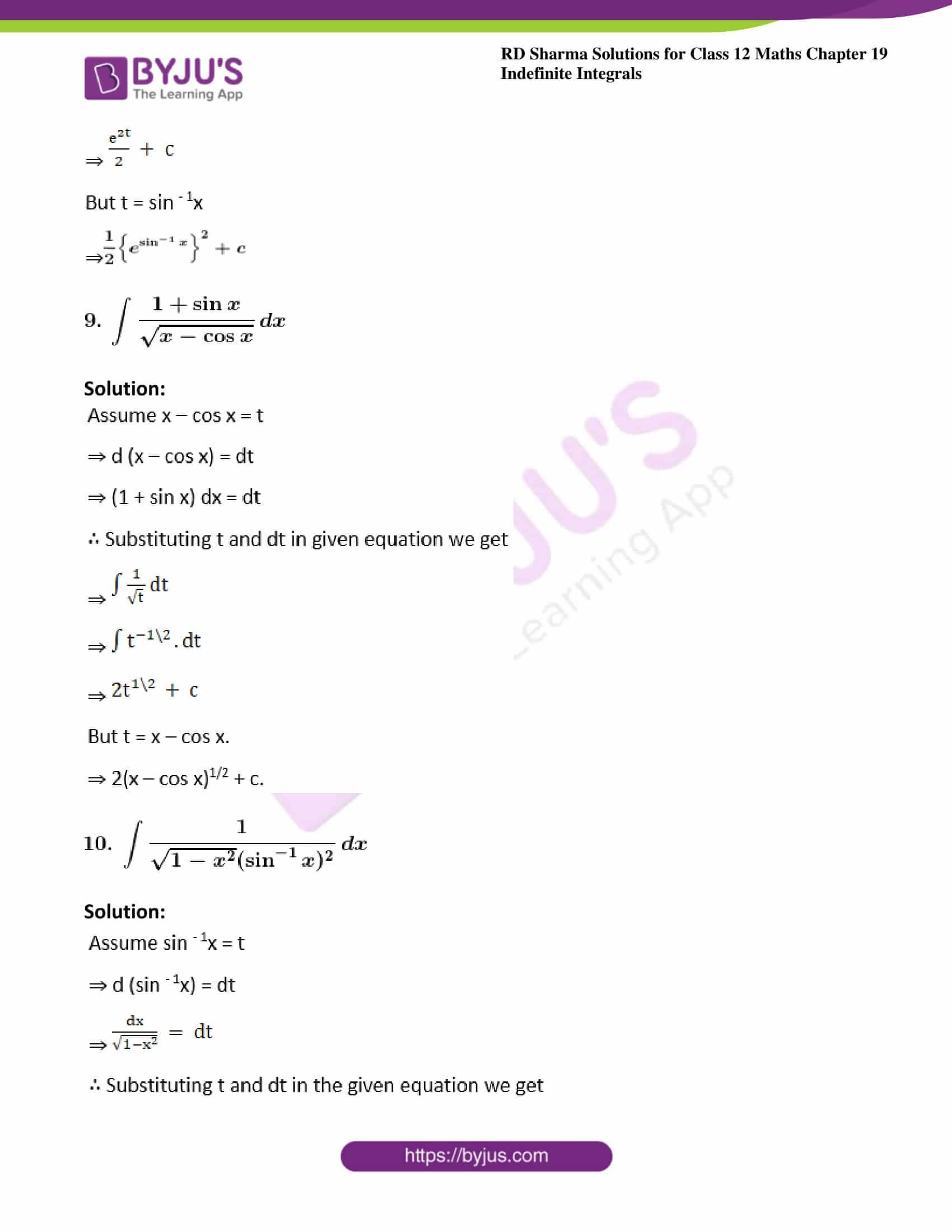 rd sharma class 12 maths solutions chapter 19 ex 9 6
