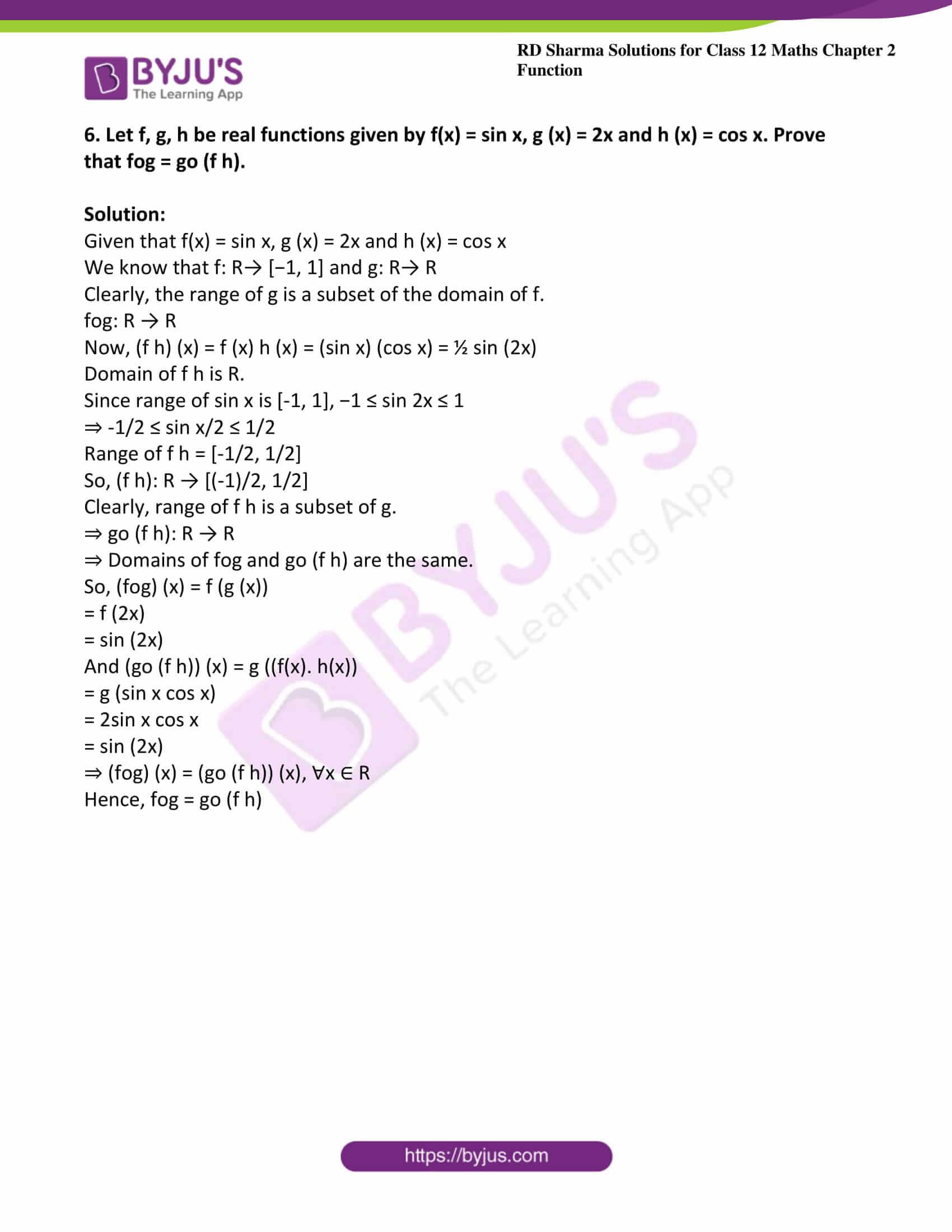 rd sharma class 12 maths solutions chapter 2 ex 3 8