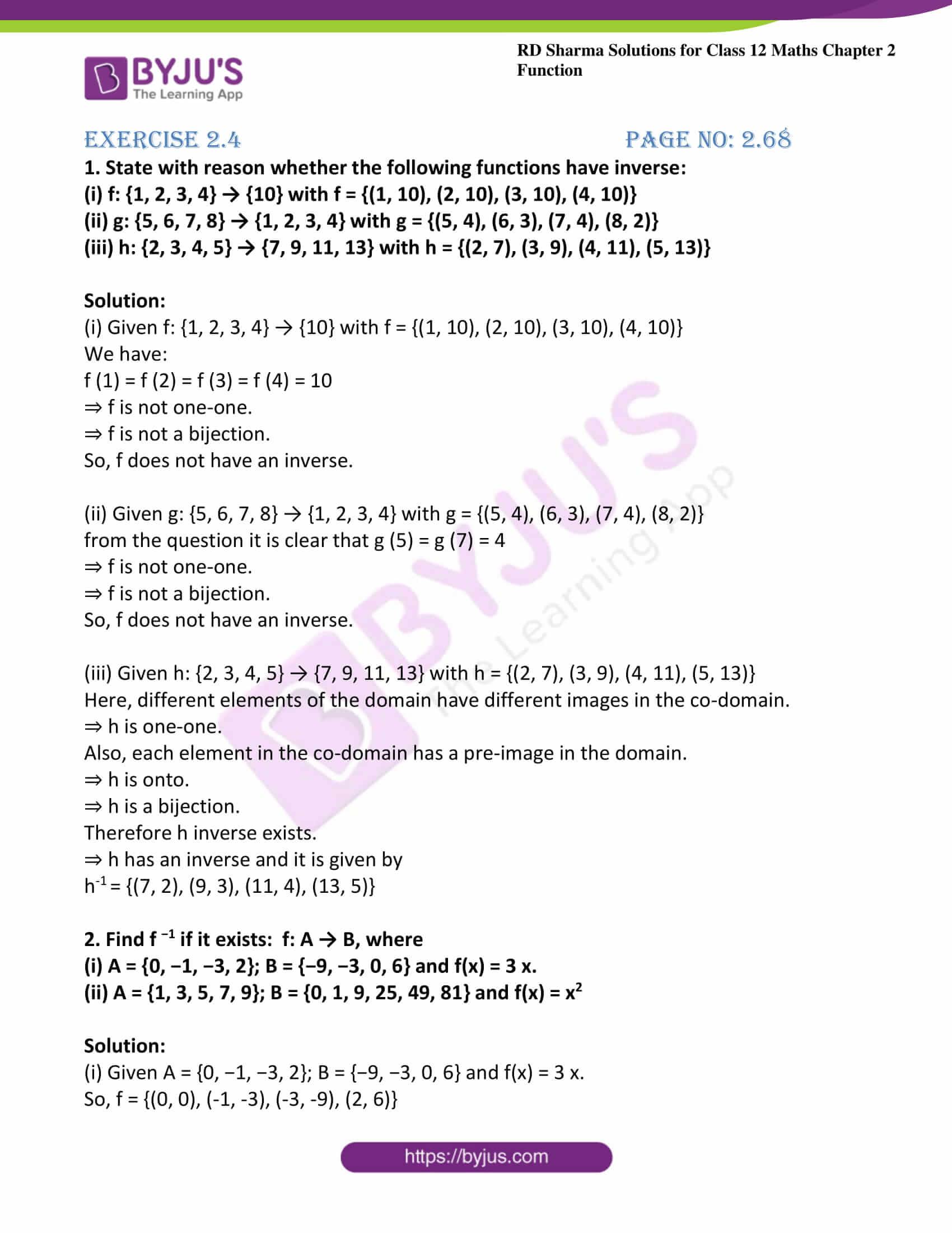 rd sharma class 12 maths solutions chapter 2 ex 4 1