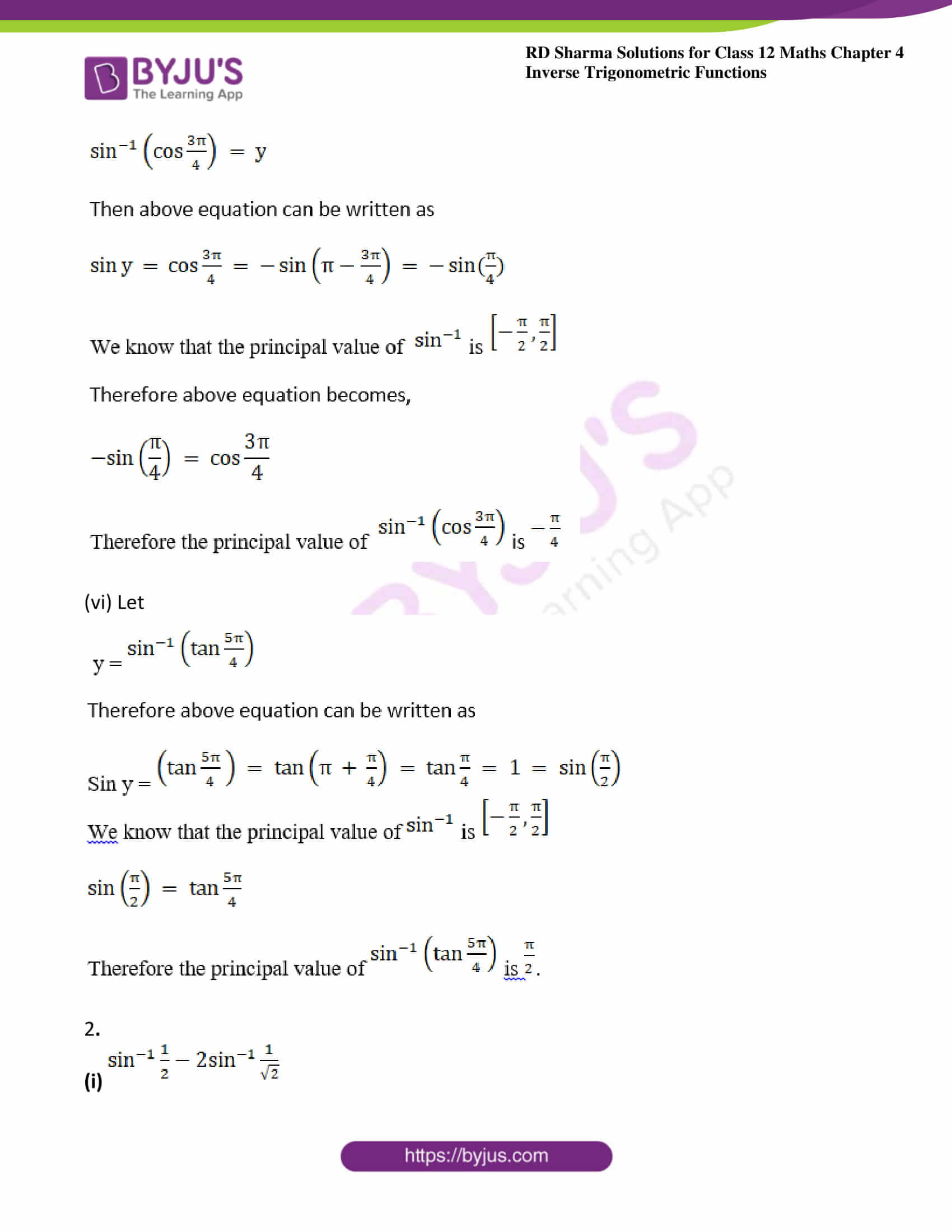 rd sharma class 12 maths solutions chapter 4 ex 1 4