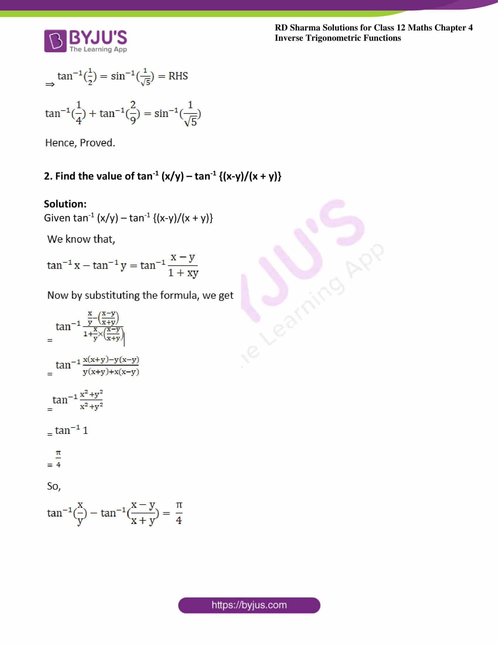 rd sharma class 12 maths solutions chapter 4 ex 11 4