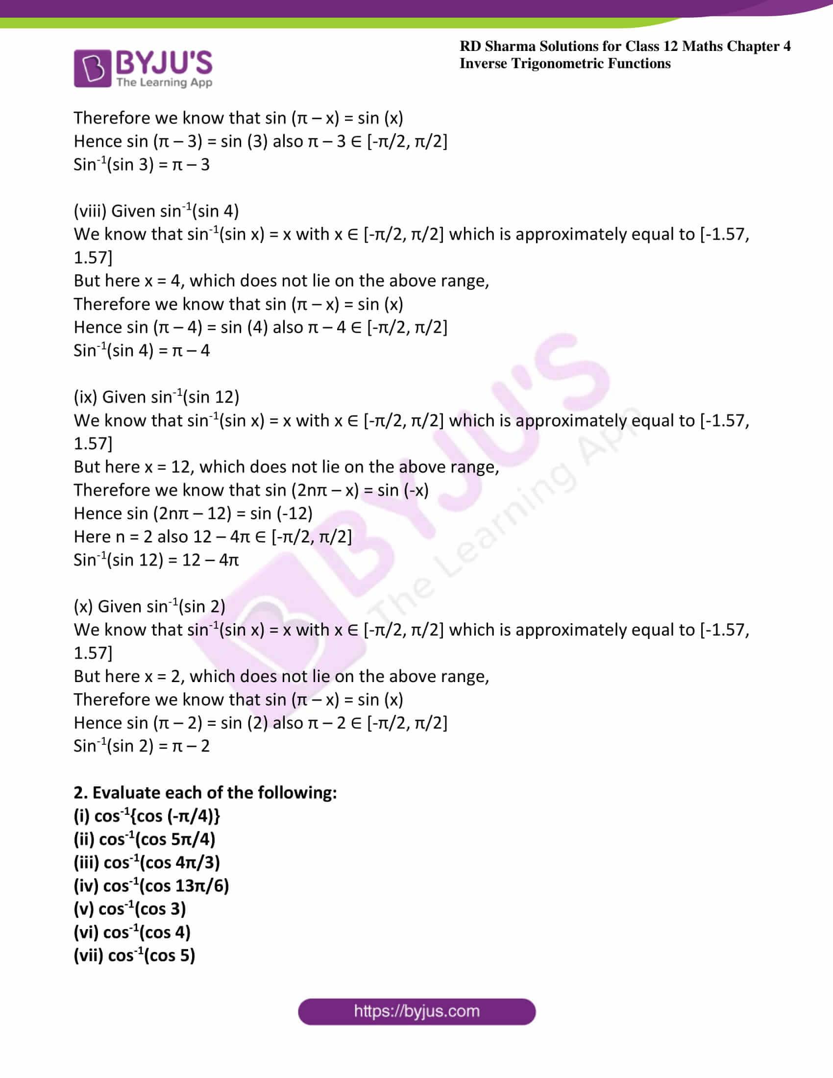 rd sharma class 12 maths solutions chapter 4 ex 7 3
