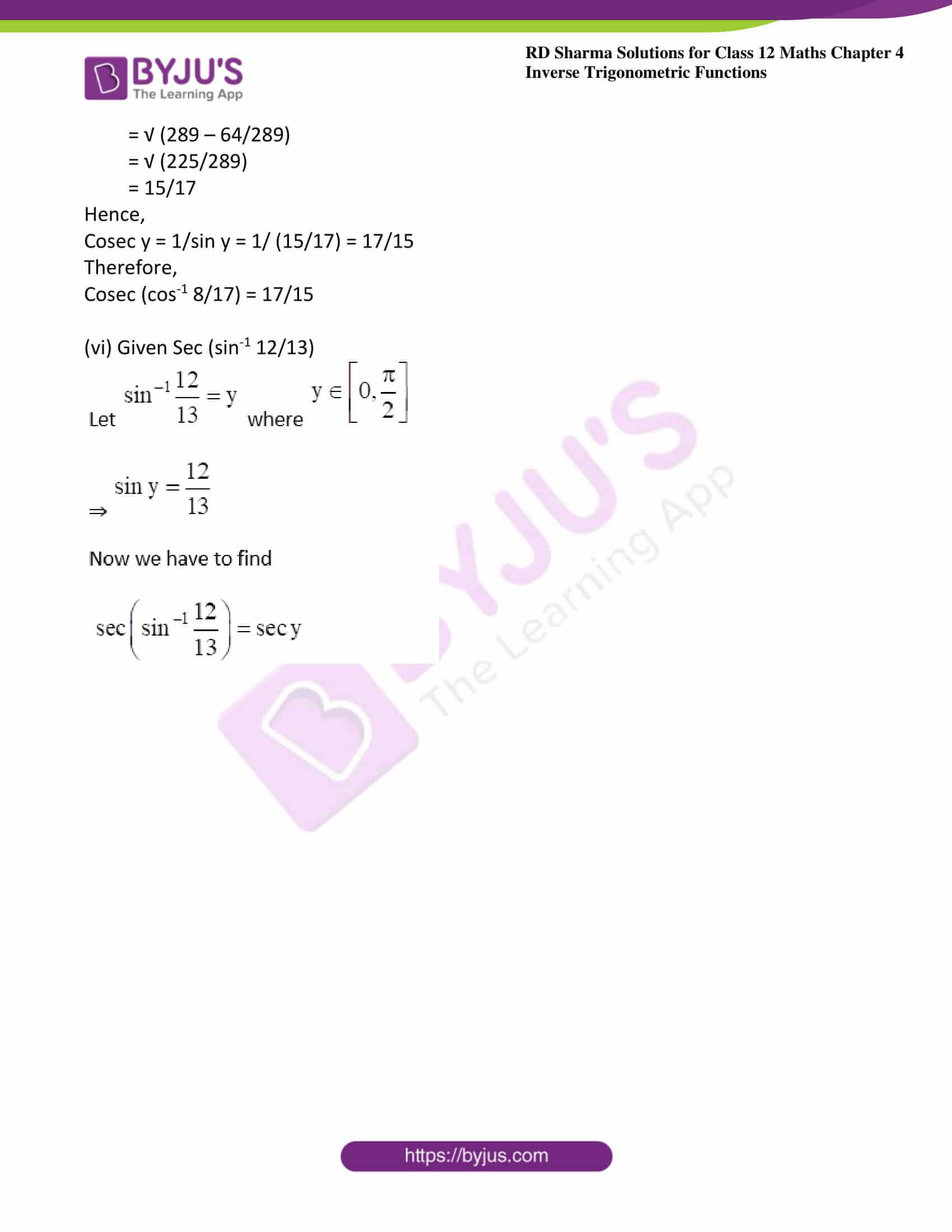 rd sharma class 12 maths solutions chapter 4 ex 8 05