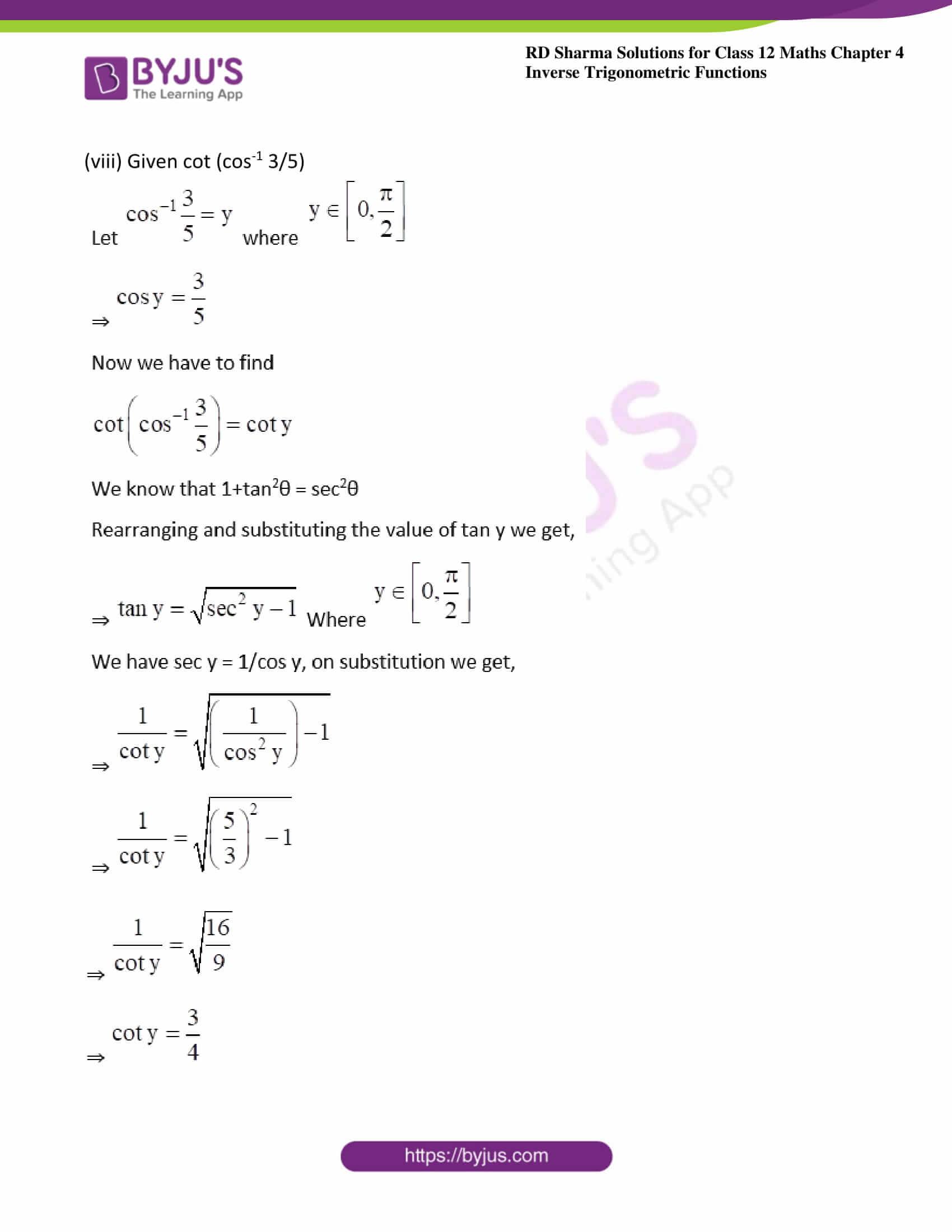 rd sharma class 12 maths solutions chapter 4 ex 8 08