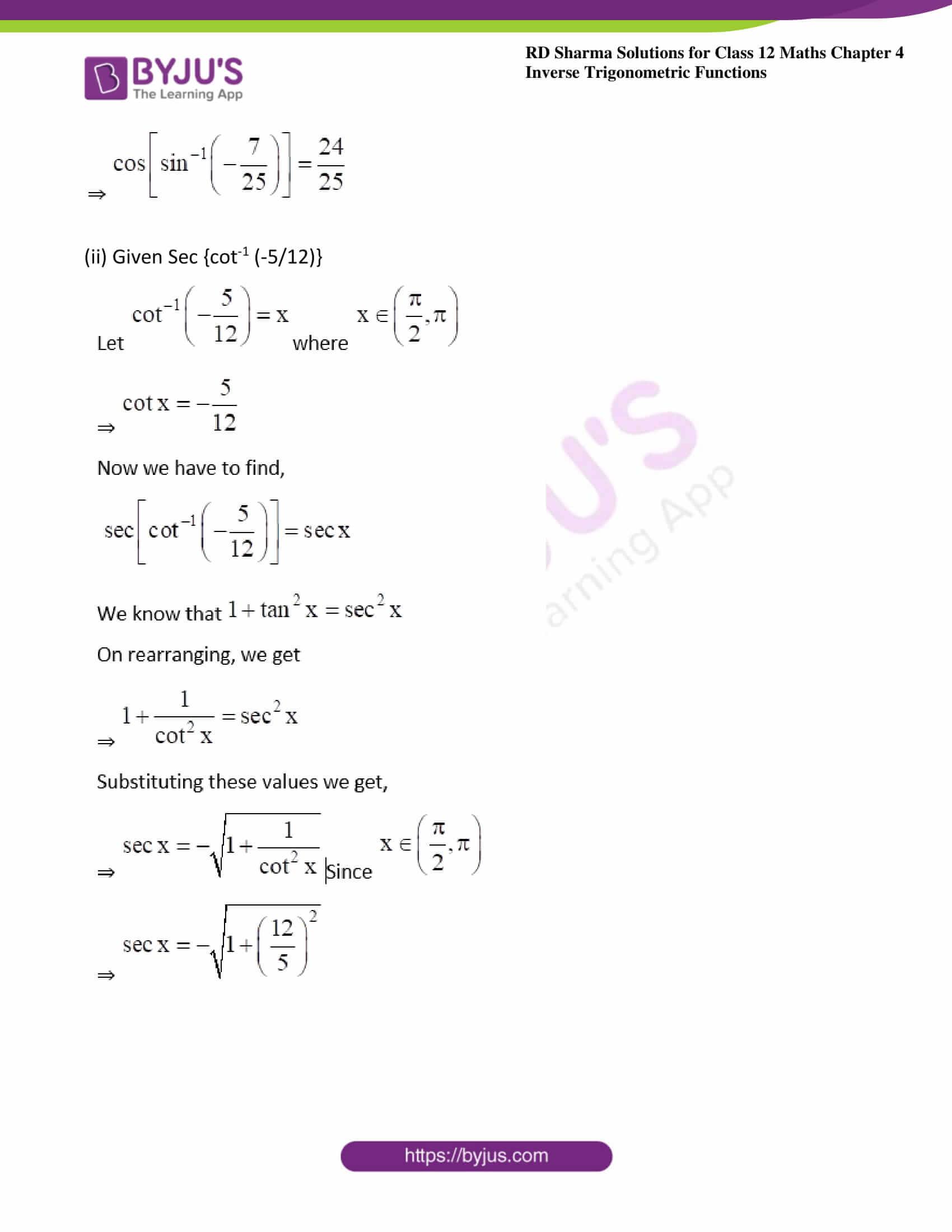 rd sharma class 12 maths solutions chapter 4 ex 9 2