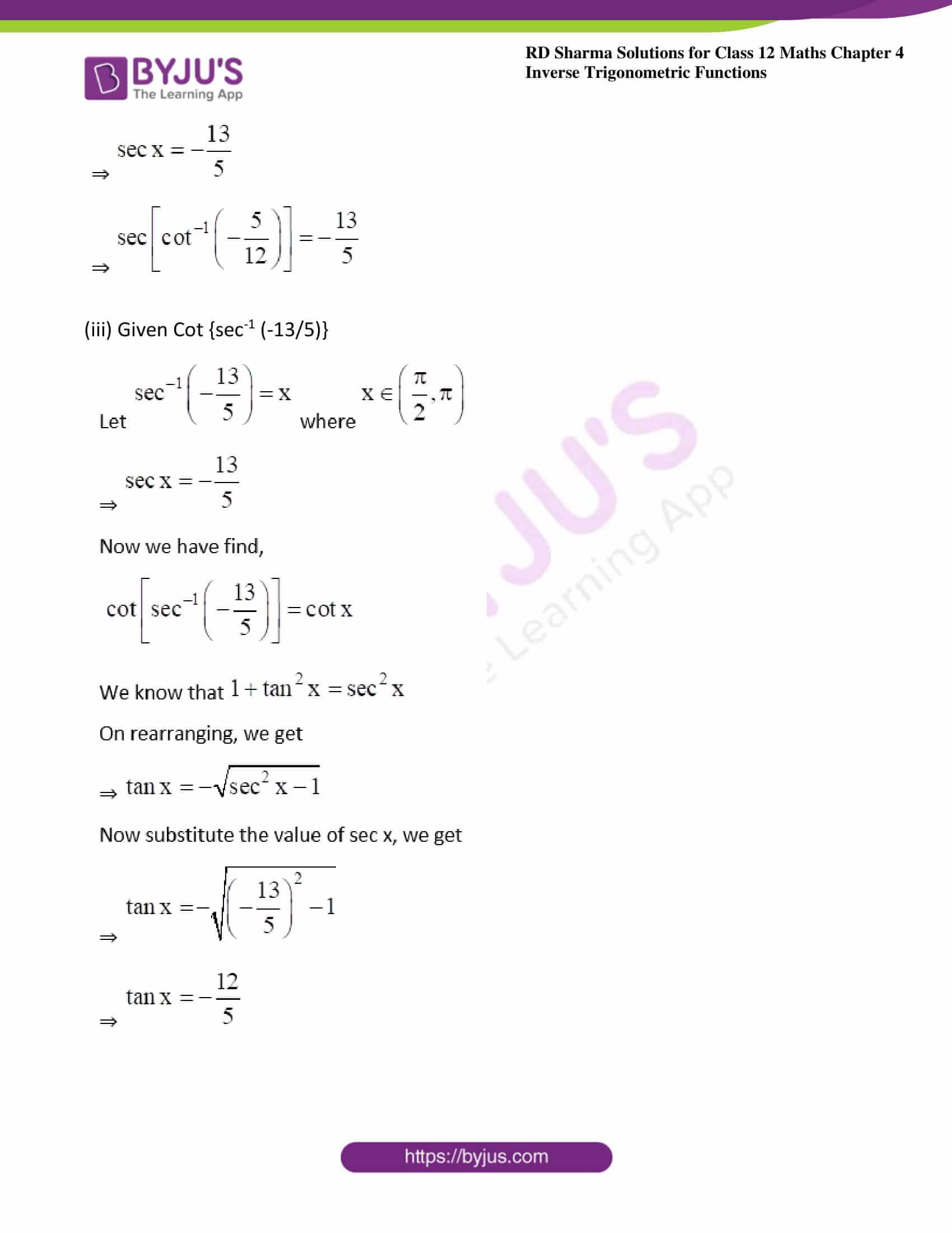 rd sharma class 12 maths solutions chapter 4 ex 9 3