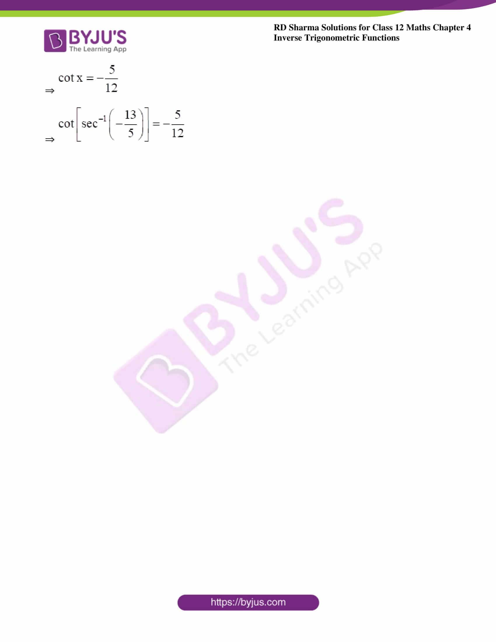 rd sharma class 12 maths solutions chapter 4 ex 9 4