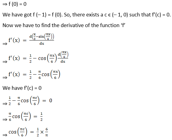 RD Sharma Solutions for Class 12 Maths Chapter 15 Mean Value Theorems Image 58