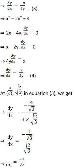 RD Sharma Solutions for Class 12 Maths Chapter 16 Tangents and Normals Image 107