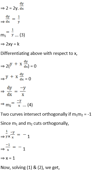 RD Sharma Solutions for Class 12 Maths Chapter 16 Tangents and Normals Image 120