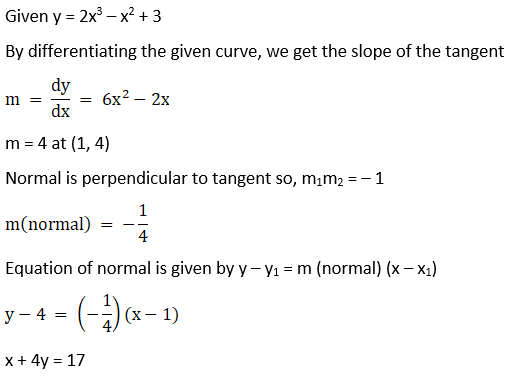 RD Sharma Solutions for Class 12 Maths Chapter 16 Tangents and Normals Image 48