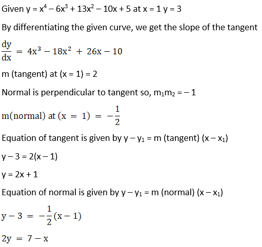 RD Sharma Solutions for Class 12 Maths Chapter 16 Tangents and Normals Image 51