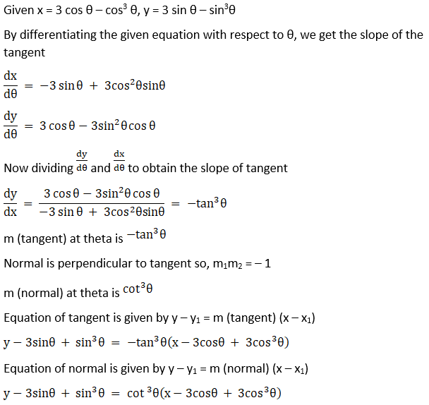 RD Sharma Solutions for Class 12 Maths Chapter 16 Tangents and Normals Image 69