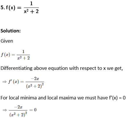 RD Sharma Solutions for Class 12 Maths Chapter 18 Maxima and Minima Image 1
