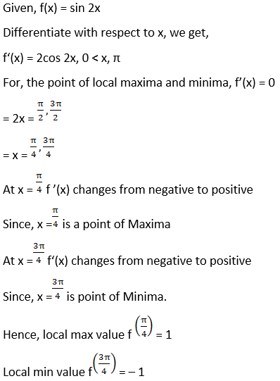 RD Sharma Solutions for Class 12 Maths Chapter 18 Maxima and Minima Image 2