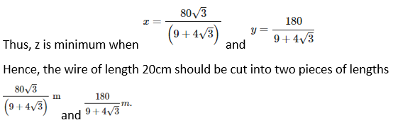 RD Sharma Solutions for Class 12 Maths Chapter 18 Maxima and Minima Image 33a