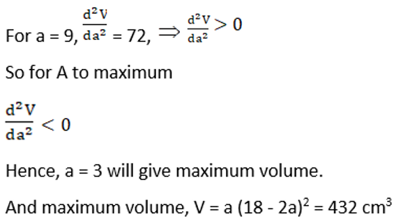 RD Sharma Solutions for Class 12 Maths Chapter 18 Maxima and Minima Image 44