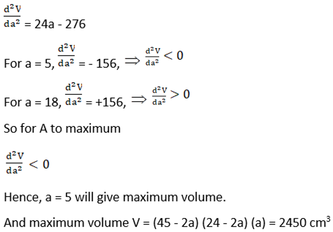 RD Sharma Solutions for Class 12 Maths Chapter 18 Maxima and Minima Image 47