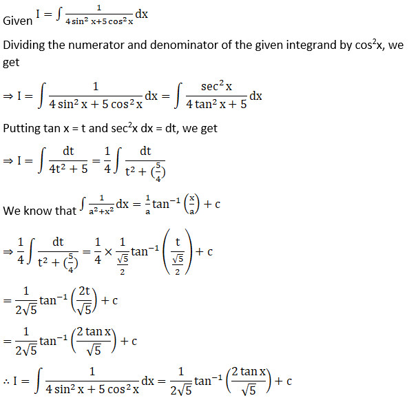RD Sharma Solutions for Class 12 Maths Chapter 19 Indefinite Integrals Image 379
