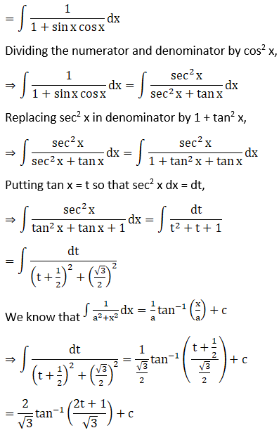 RD Sharma Solutions for Class 12 Maths Chapter 19 Indefinite Integrals Image 382