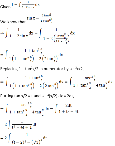 RD Sharma Solutions for Class 12 Maths Chapter 19 Indefinite Integrals Image 395