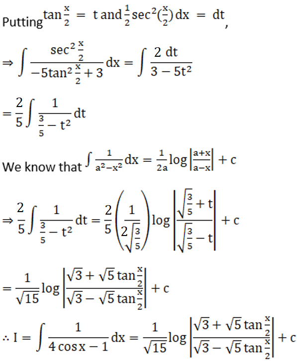 RD Sharma Solutions for Class 12 Maths Chapter 19 Indefinite Integrals Image 399