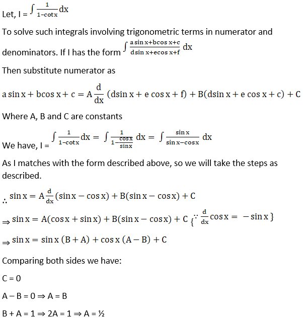 RD Sharma Solutions for Class 12 Maths Chapter 19 Indefinite Integrals Image 404