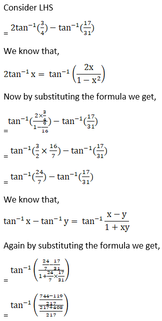 RD Sharma Solutions for Class 12 Maths Chapter 4 Inverse Trigonometric Functions Image 97