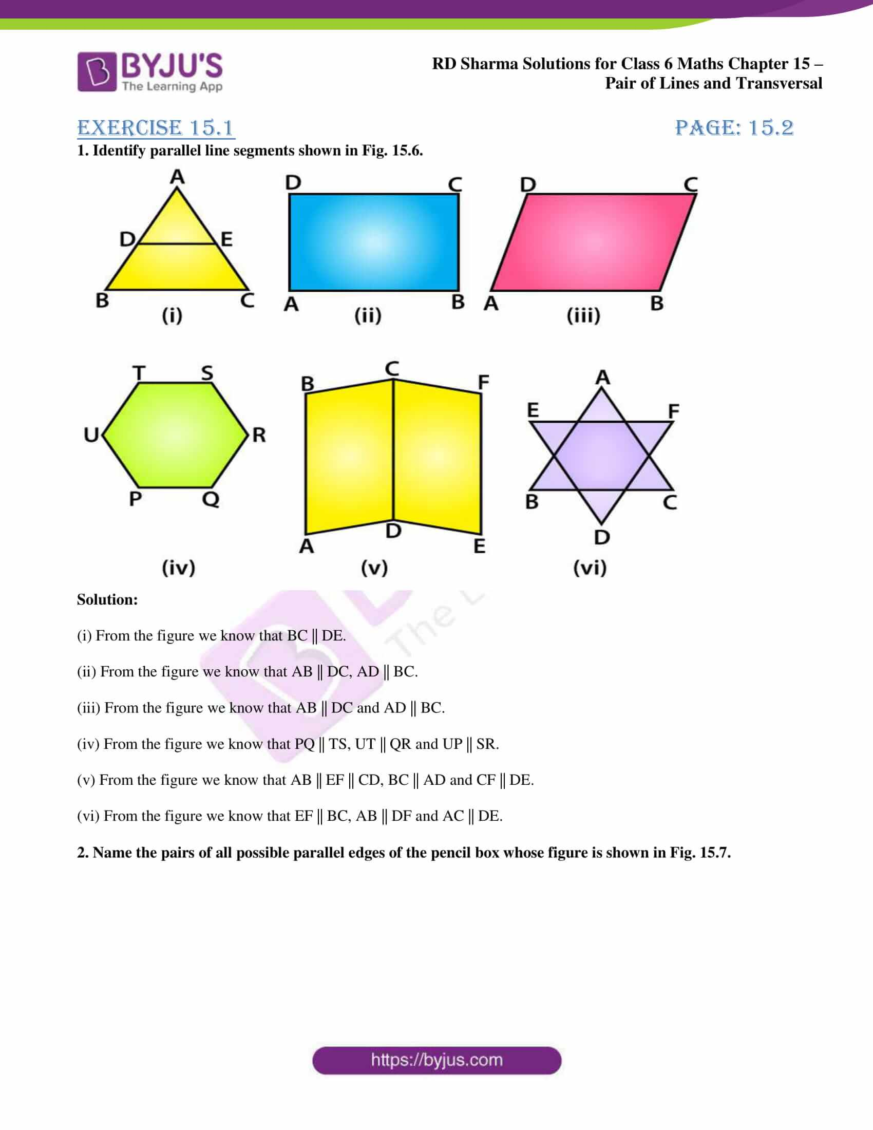rd sharma solutions nov2020 class 6 maths chapter 15 exercise 1 1