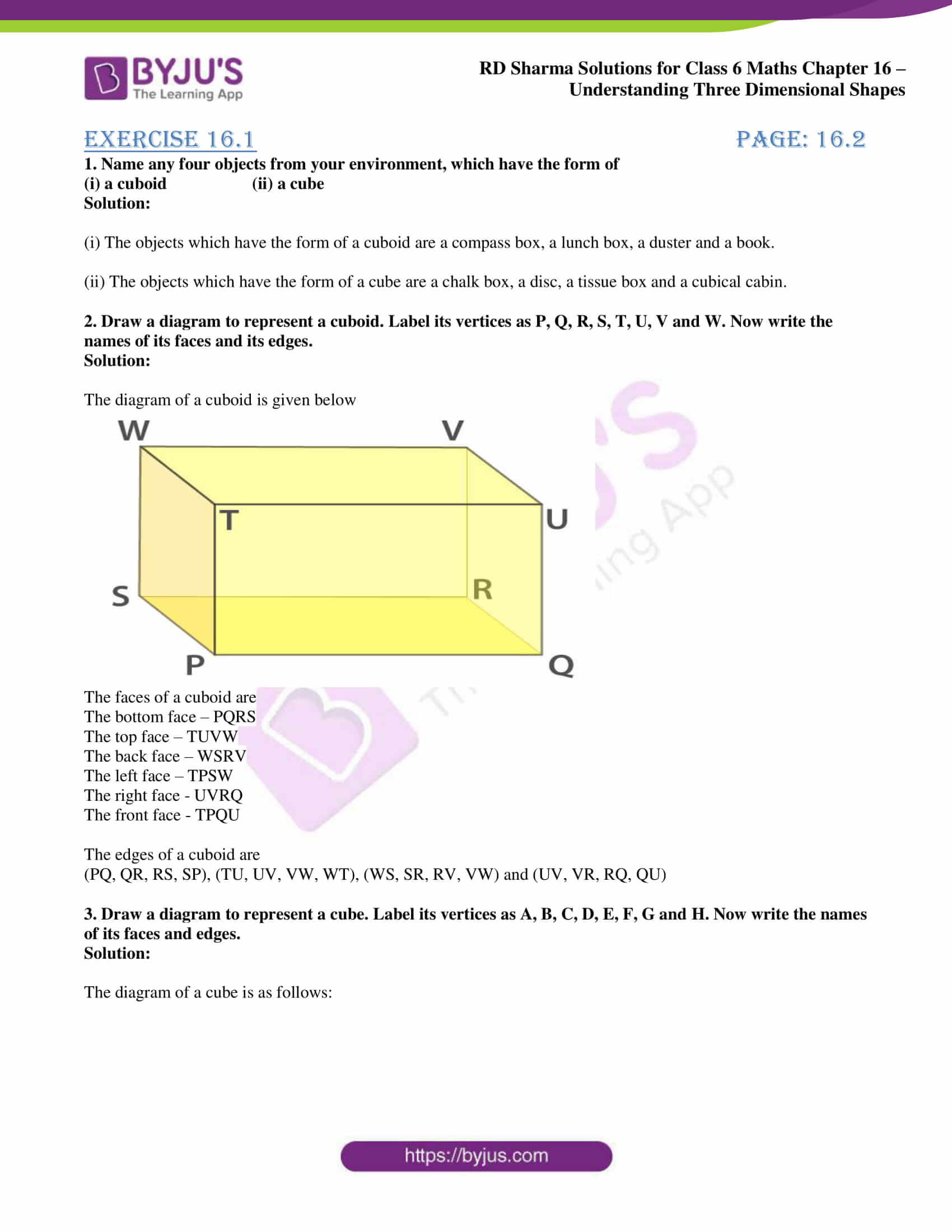 rd sharma solutions nov2020 class 6 maths chapter 16 exercise 1 1