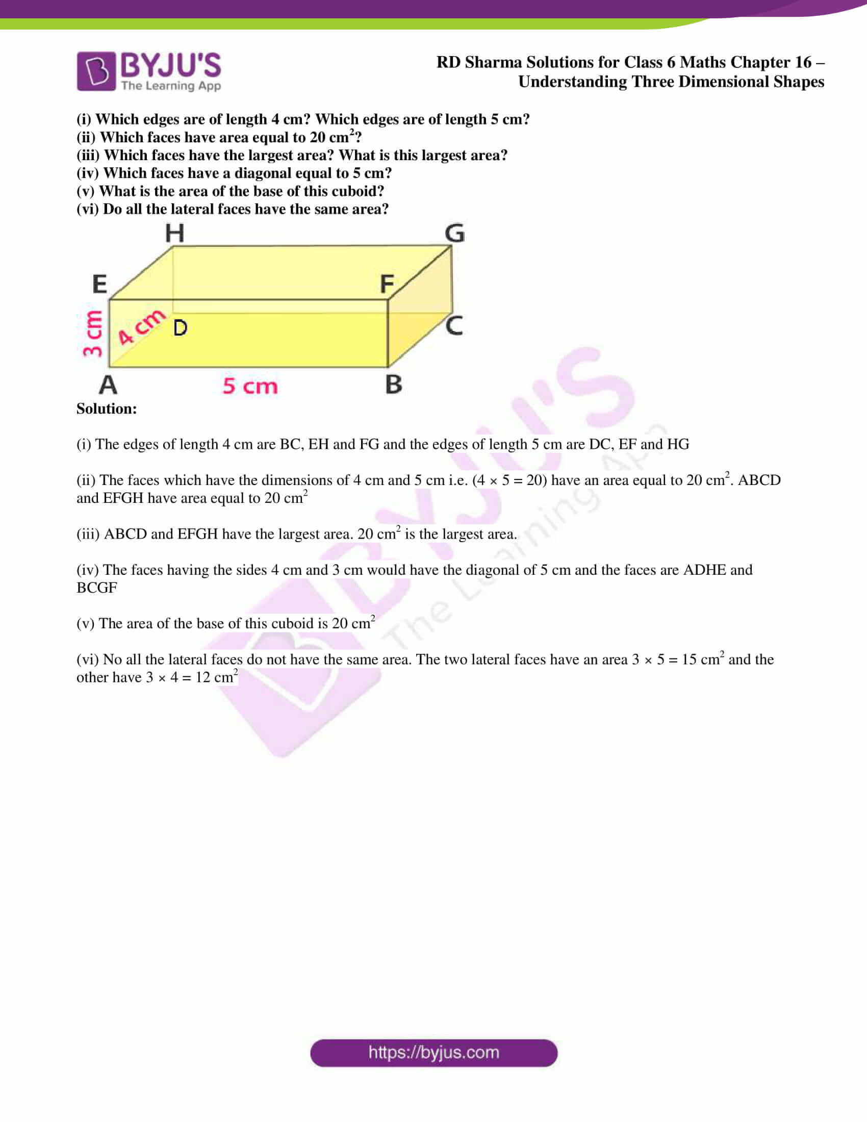 rd sharma solutions nov2020 class 6 maths chapter 16 exercise 1 6