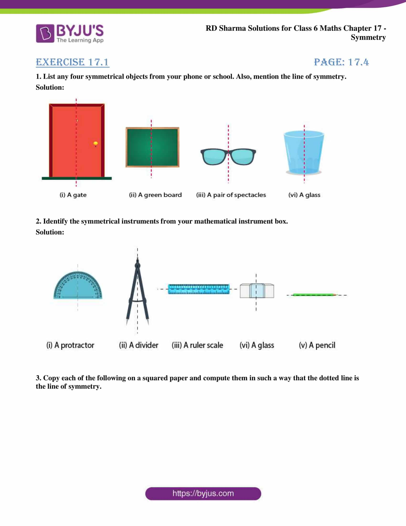 rd sharma solutions nov2020 class 6 maths chapter 17 exercise 1 1