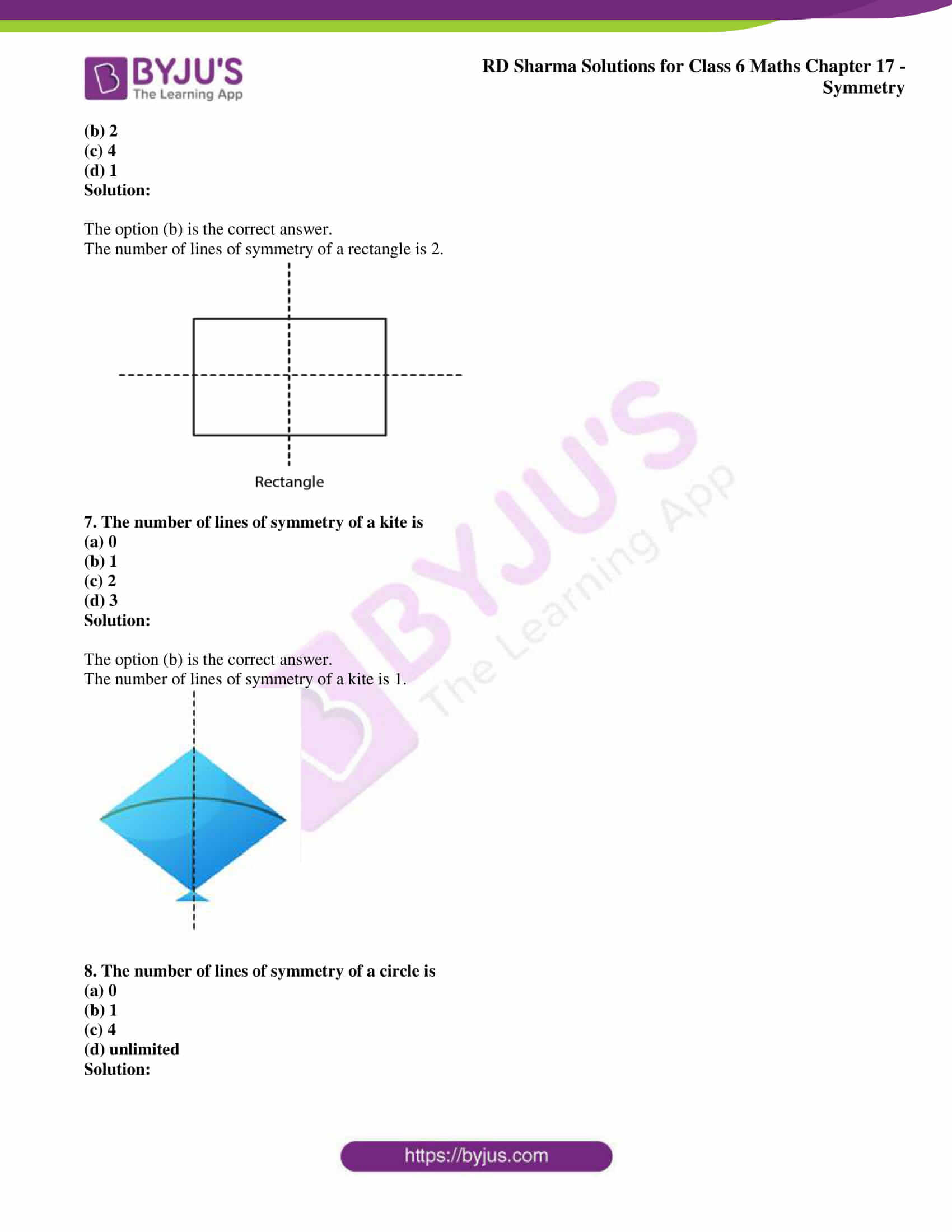 rd sharma solutions nov2020 class 6 maths chapter 17 exercise obj 3