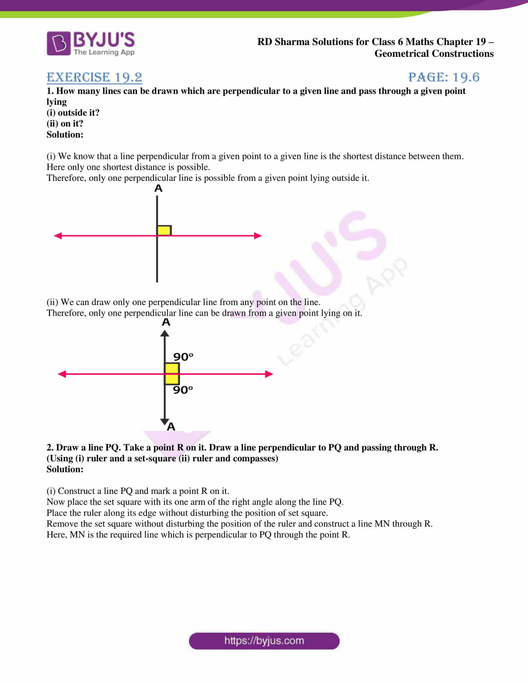 rd sharma solutions nov2020 class 6 maths chapter 19 exercise 2 1