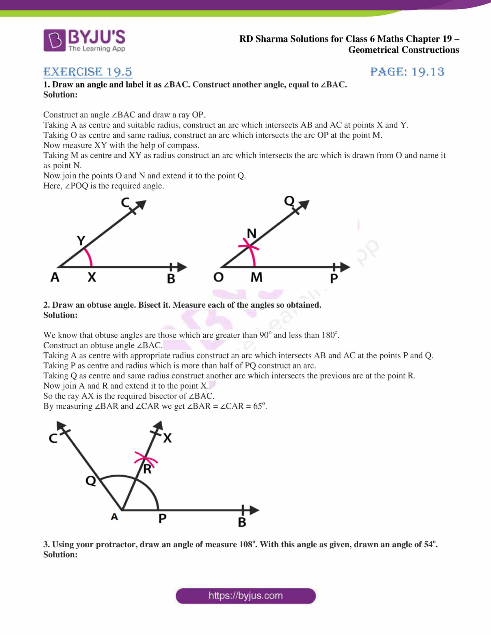 rd sharma solutions nov2020 class 6 maths chapter 19 exercise 5 1