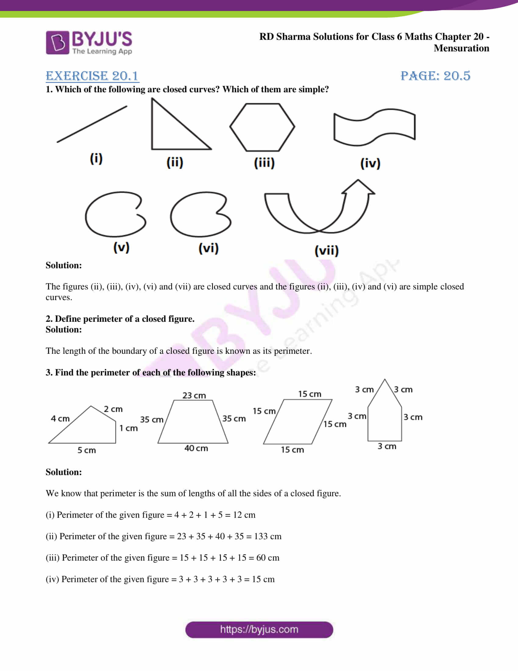 rd sharma solutions nov2020 class 6 maths chapter 20 exercise 1 1