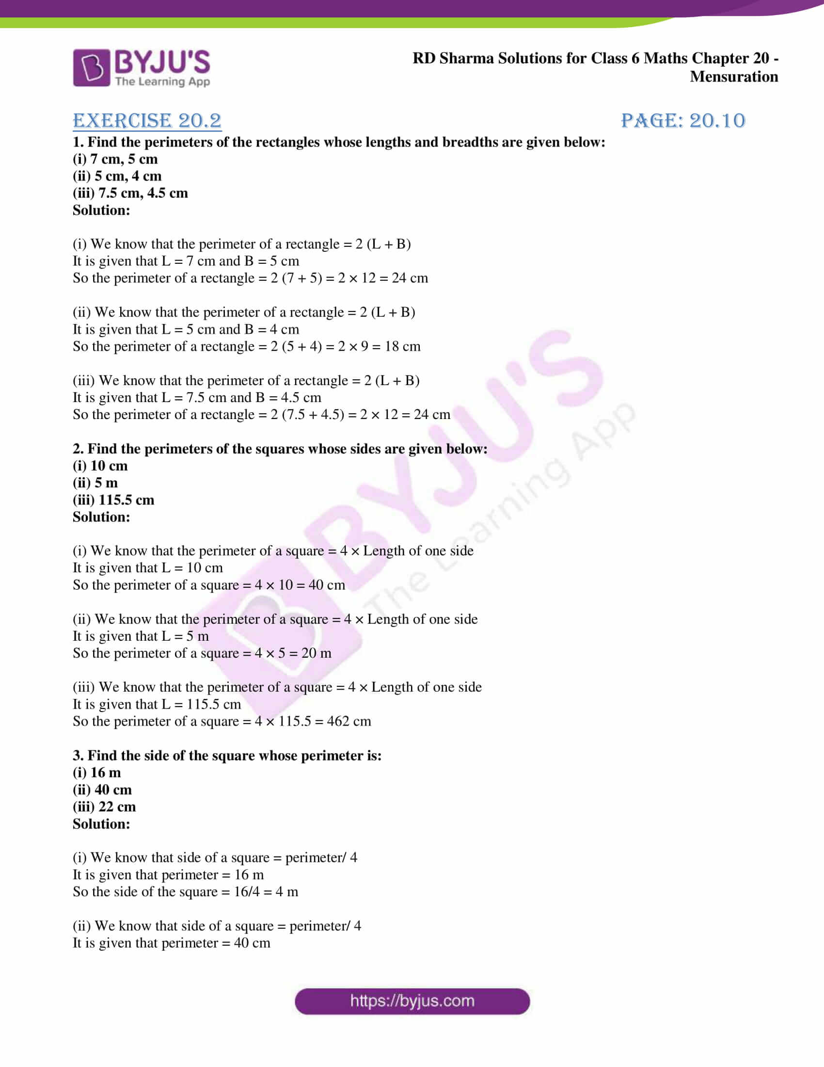 rd sharma solutions nov2020 class 6 maths chapter 20 exercise 2 1