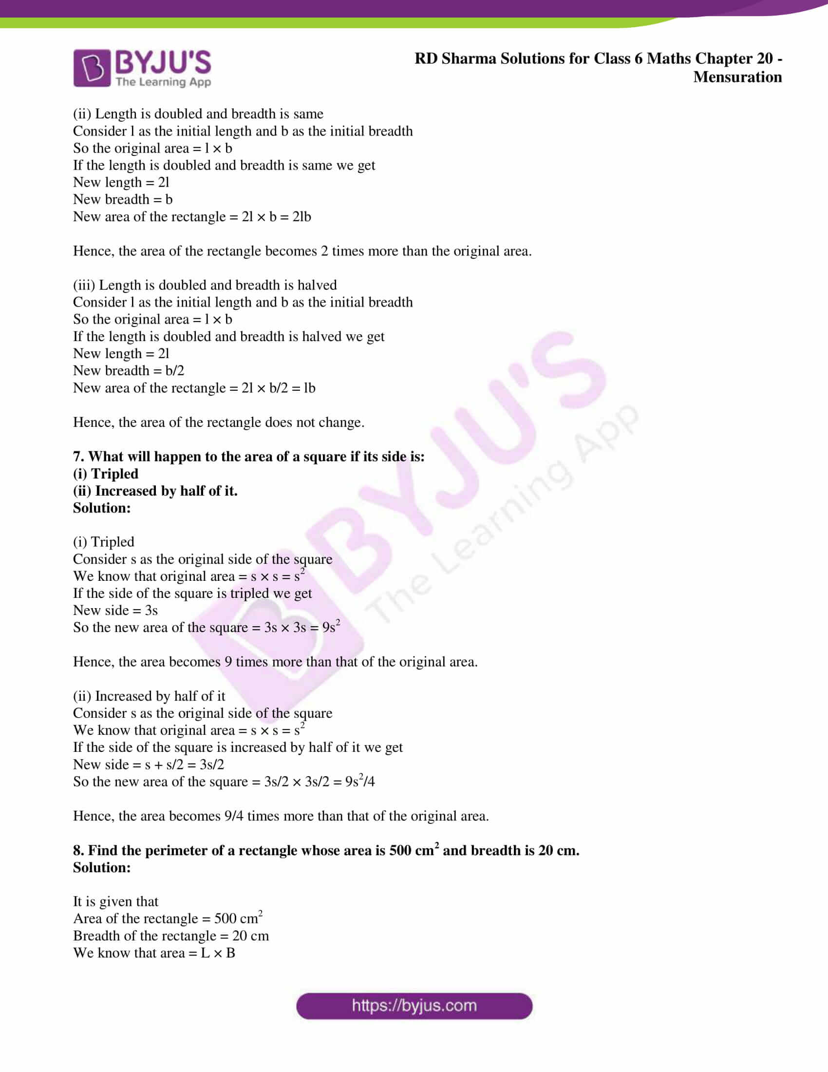 rd sharma solutions nov2020 class 6 maths chapter 20 exercise 4 3