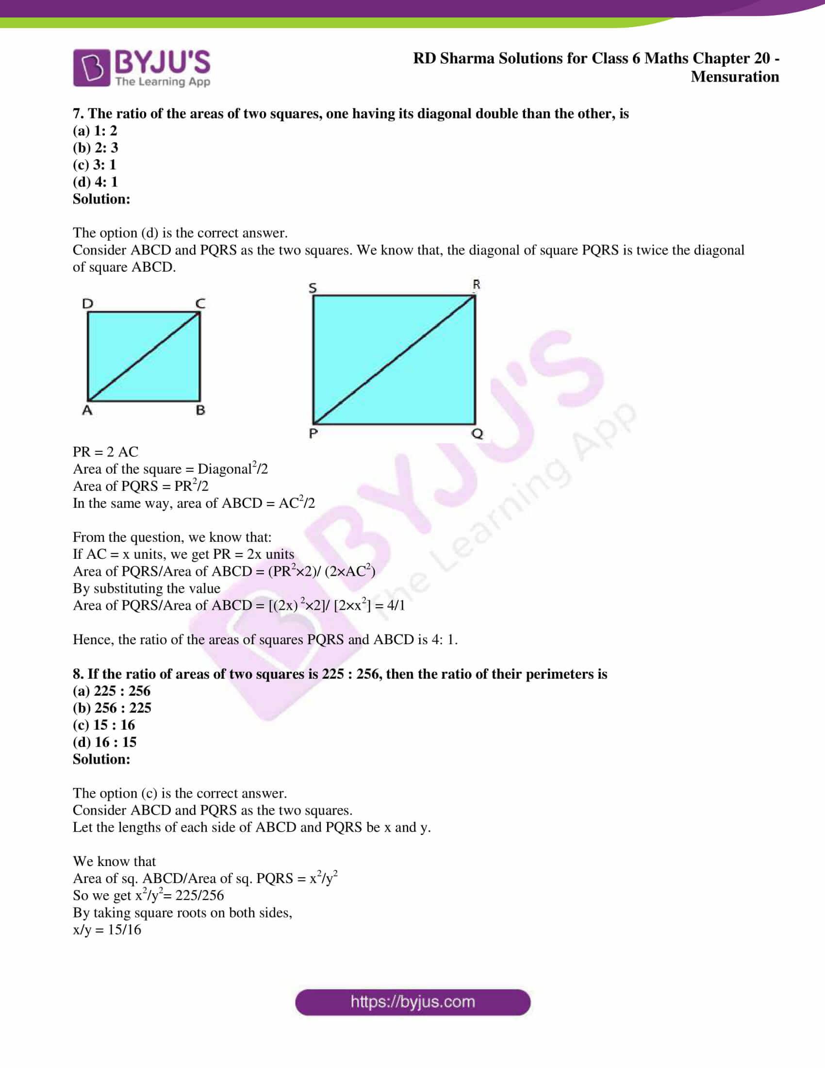 rd sharma solutions nov2020 class 6 maths chapter 20 exercise obj 4