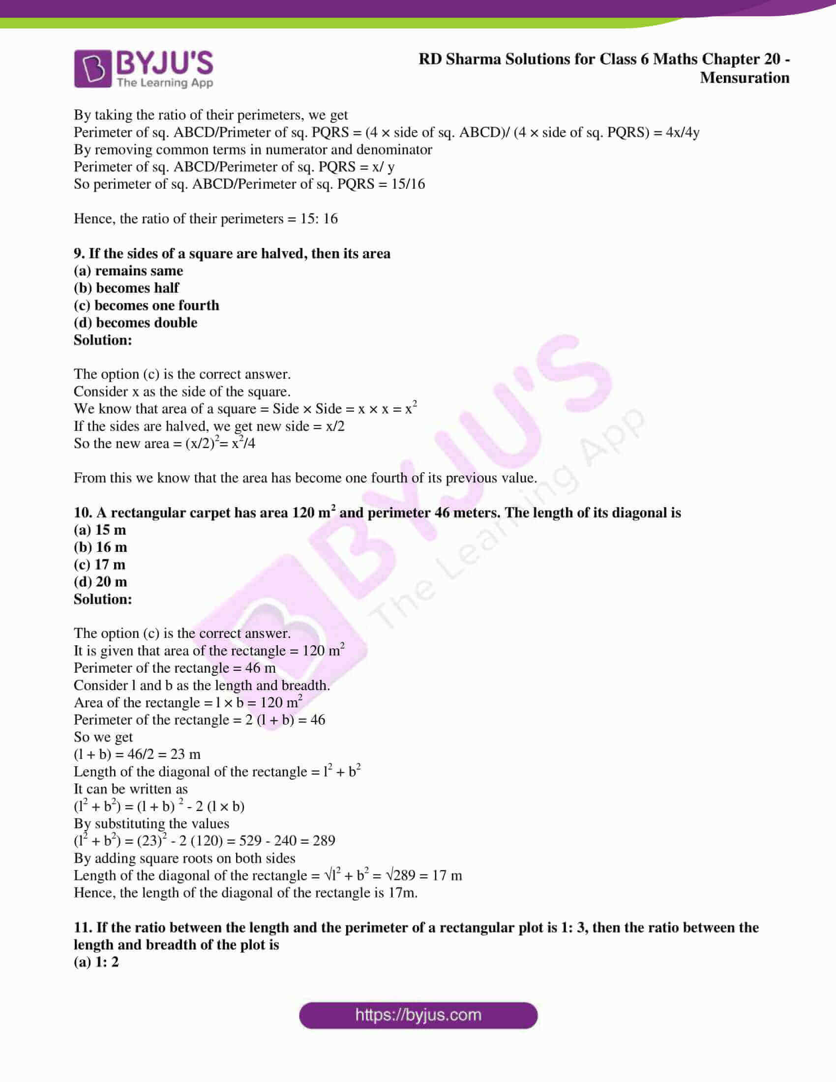 rd sharma solutions nov2020 class 6 maths chapter 20 exercise obj 5