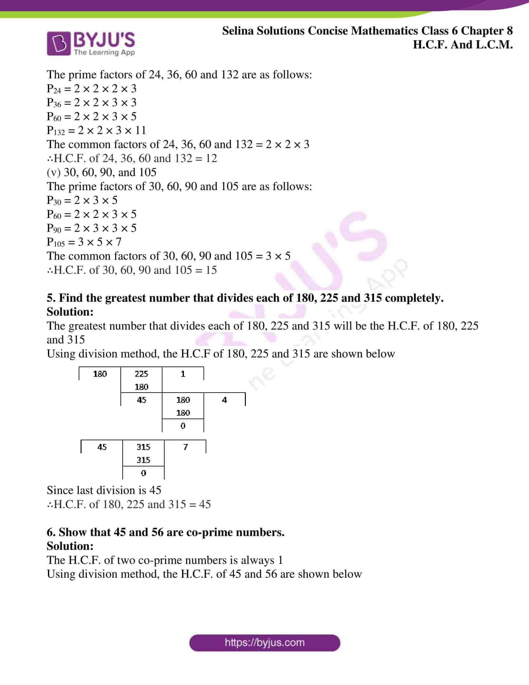 selina sol concise mathematics class 6 ch 8 ex b 6