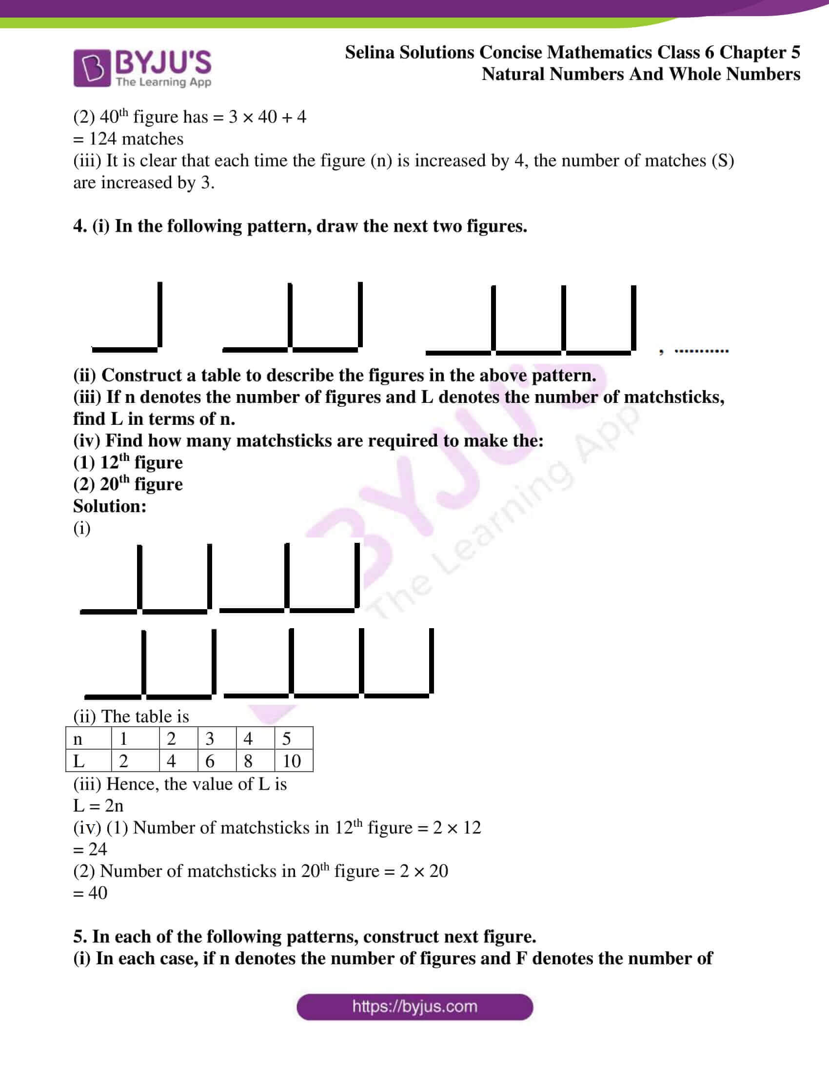 selina sol concise maths class 6 ch5 ex 5f 5