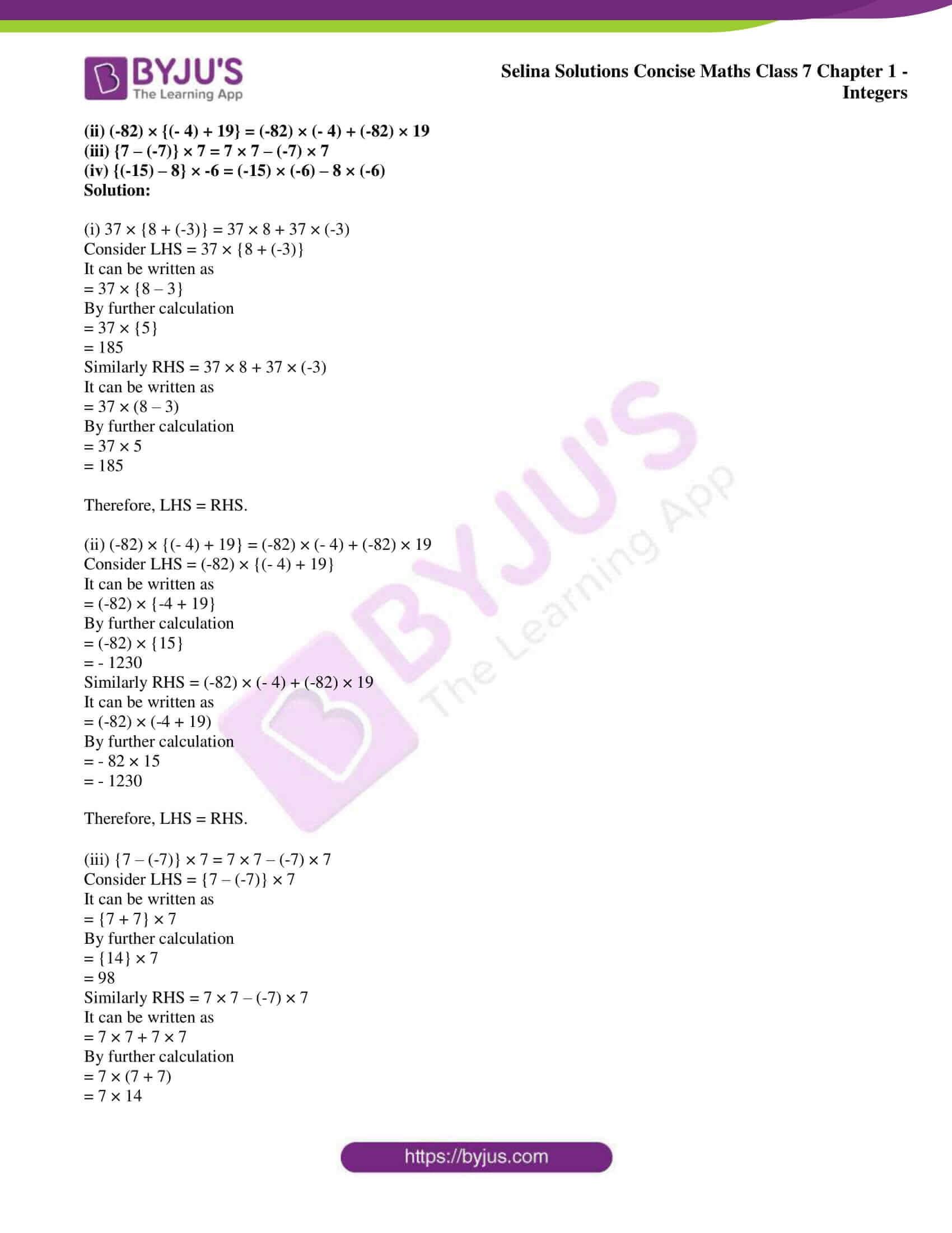 selina sol concise maths class 7 ch1 ex 1a 2