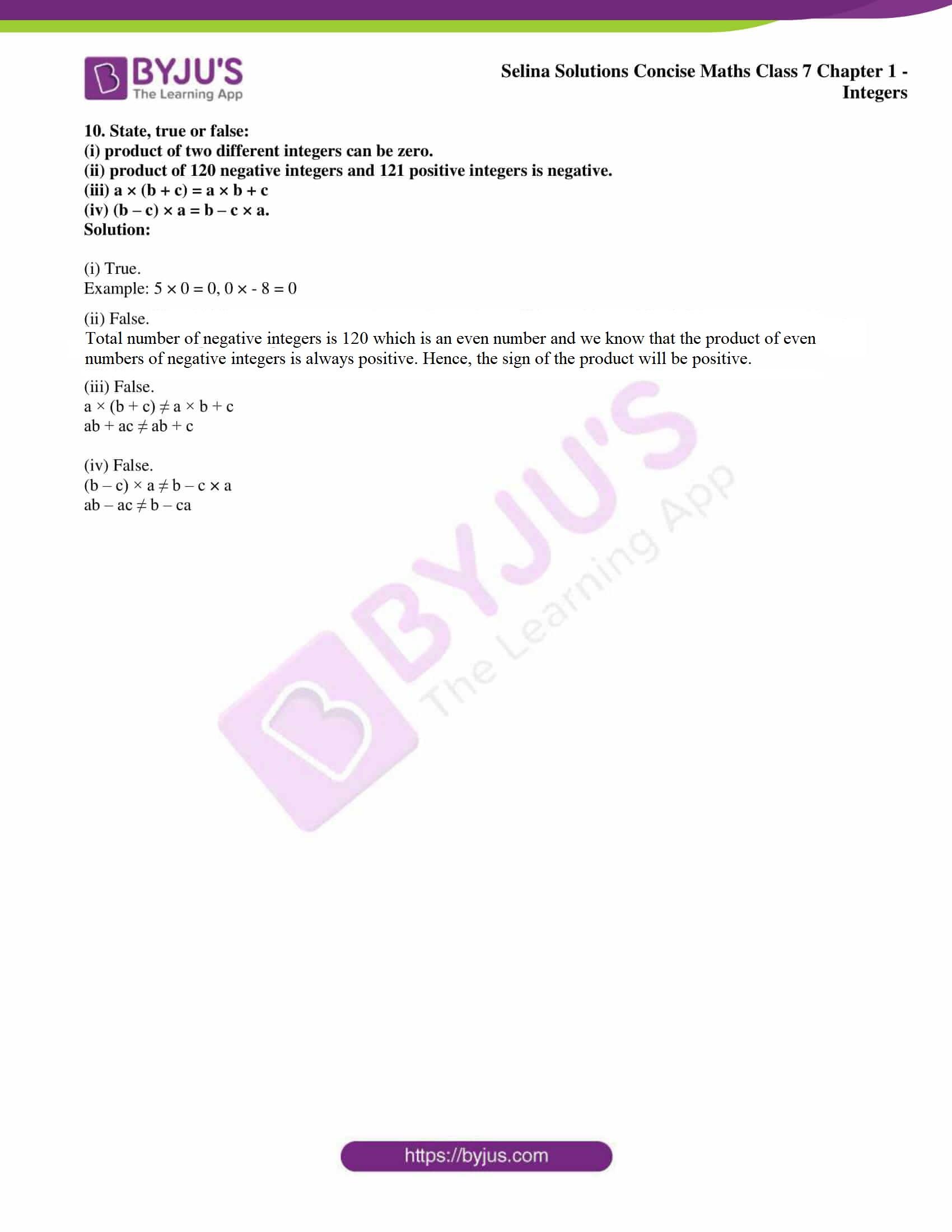 selina sol concise maths class 7 ch1 ex 1a 6