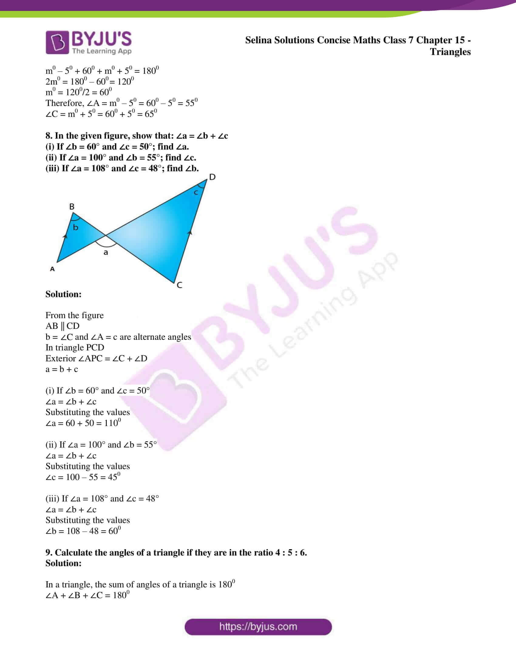 selina sol concise maths class 7 chapter 15 ex a 5