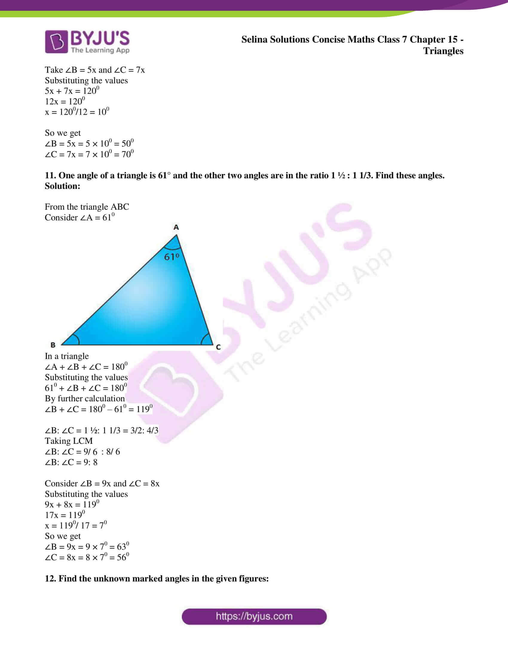 selina sol concise maths class 7 chapter 15 ex a 7